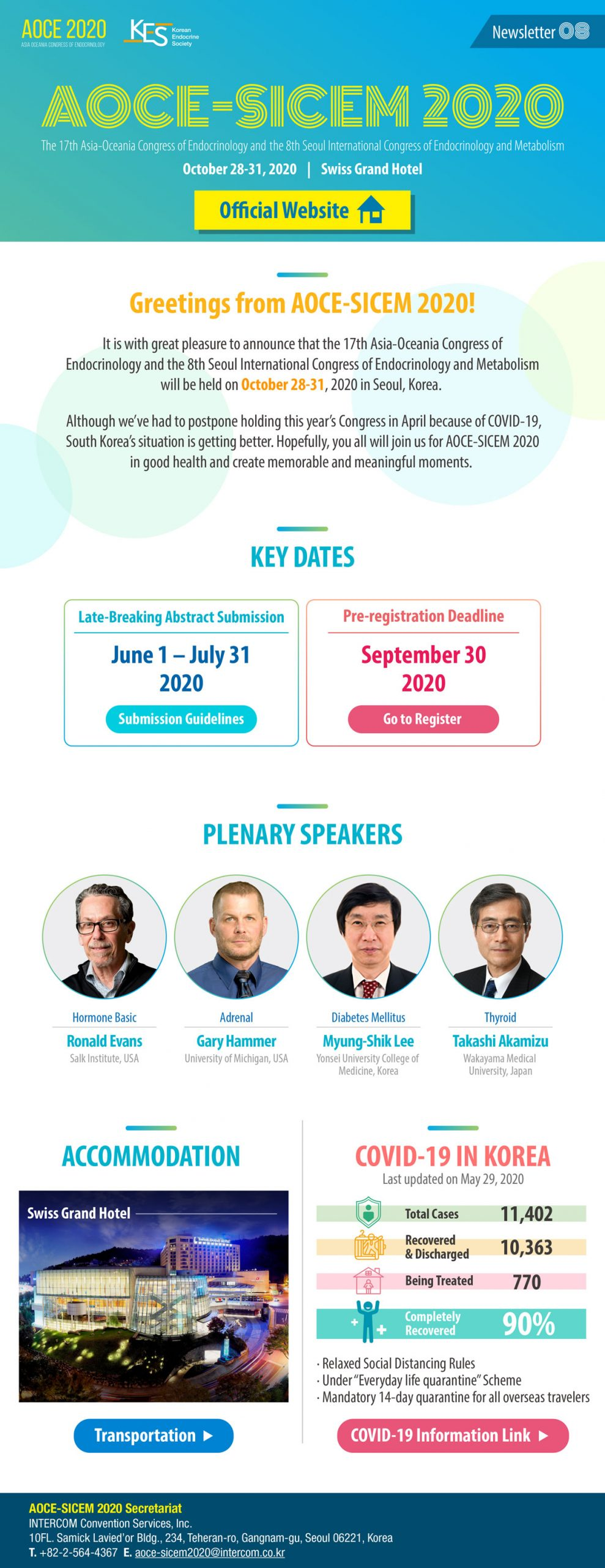 The 17th Asia-Oceania Congress of Endocrinology and the 8th Seoul ...